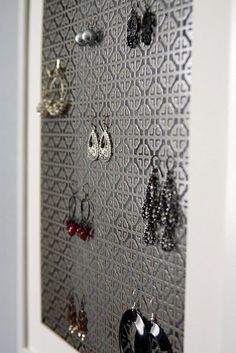 radiator covers from Home Depot turned functional art-jewelry storage