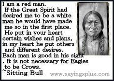 Sitting Bull quote.