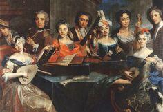 Carlo Amalfi, Musical Gathering, 1725