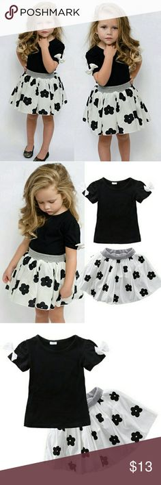 Black and white floral outfit Brand New With Tags  Toddler 4t Dresses Casual