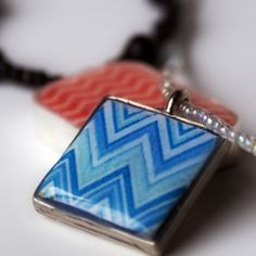 Make a polymer clay chevron pendant