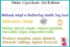 October - Cycles to find things on sale in October