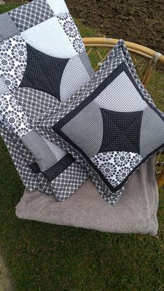 Patchwork Quilt and Pillow