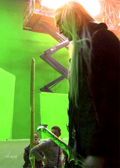 Thranduil, Lee Pace, Hobbit set Behind the scenes