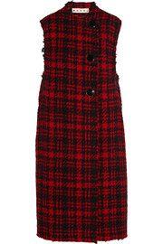 MarniChecked wool-blend tweed vest