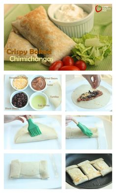 Crispy Baked Chimichangas Recipe - No need to deep fry chimichangas. This baked version is SUPER crispy! http://www.superhealthykids.com/crispy-baked-chimichangas/