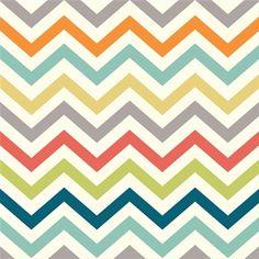 Chevrons Multi - Jersey Knit Fabric £9 per hlaf mtre