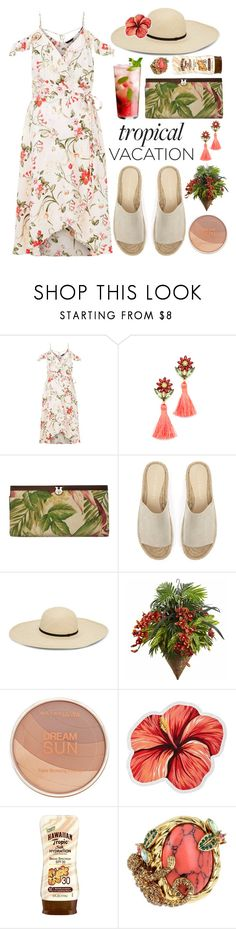 """Untitled #428"" by mydntkrl ❤ liked on Polyvore featuring Elizabeth Cole, Patricia Nash, Mint Velvet, Maybelline, LaMont, Hawaiian Tropic and Betsey Johnson"