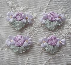 4pc Vintage Chic Pastel Antique Lavender by delightfuldesigner