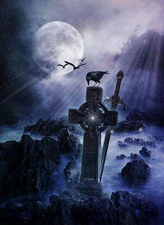 Moonlight Celtic cross.