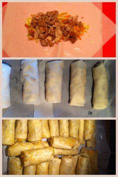 Mine barn elsker hjemmelagde vårruller. Her har du en enkle oppskrift som smaker fantastisk godt! :) Kjøp vårrull lefser (de store) fås kjøpt i utenlandske butikker. Denne oppskriften er til ca. 30… Recipe Boards, Main Meals, Enchiladas, Finger Foods, Tapas, Picnic, Food And Drink, Appetizers, Mexican