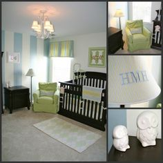 possible painting idea for wood paneling in baby room