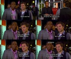 Black and Tan probably the best names Shawn came up with throughout the whole show! Psych Quotes, Tv Quotes, Movie Quotes, Funny Quotes, Psych Memes, Fandom Memes, Memes Humor, Funny Memes, Shawn And Gus