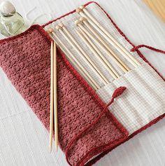 Free pattern, knitting needle case - pretty