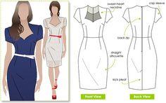 Layla Dress Sizes 22 24 26 Women's dress PDF Sewing par StyleArc