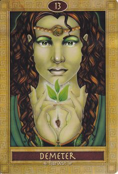 ✯ Demeter from Mythic Oracle Card :: By Carisa Mellado & Artist Michele-lee Phelan ✯