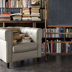Chester Tufted Leather Chair #WestElm