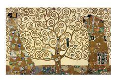 Friso de Stocklet (Expectación, el Arbol de la Vida y Satisfacción) - Gustav Klimt. Museo Osterreichisches fue Angewandte Kunst, Viena. 1905-1909