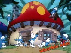 Smurf House Smurf House, Smurf Village, Cartoon House, Storybook Cottage, Smurfette, Mushroom House, Gnome, Outdoor Sculpture, Cottage Design