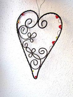 Dekorácie - srdénko (12 cm) - 5278450_