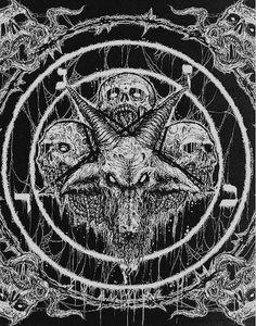 Kult ov Azazel/Teratism - In League With Satan Black Metal, Black Art, Satanic Tattoos, Satanic Art, Arte Horror, Horror Art, Dark Fantasy, Fantasy Art, Baphomet