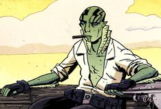 Abe Sapien, chillin' with a cigar. Comic Movies, Comic Book Characters, Comic Books, Abe Sapien, Character Art, Character Design, Illustrations, Manga Comics, Hero Arts