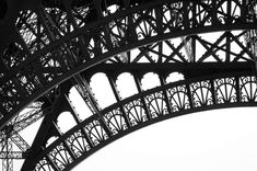 Paris black and white photography Eiffel by ParisArtPhotography