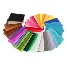 40 pcs/Pack DIY Polyester Felt Fabric Cloth Thickness Handmade Sewing Home Decor
