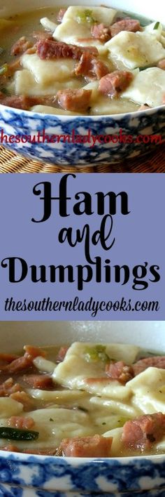 This Ham and Dumplings recipe is great for using up leftover ham and what could be better than dumplings. Add some cornbread muffins for a meal. 4 to 5 cups ham, cooked and cut into bite sized pie… (Chicken Dumplings Crockpot) Pork Recipes, New Recipes, Crockpot Recipes, Cooking Recipes, Favorite Recipes, German Recipes, Sausage Recipes, Chili Recipes, Turkey Recipes