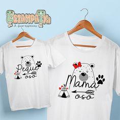 Camisetas Mamá Oso, lindo  pack de camisetas para que la mami vaya a juego con el peque, disponibles diseño para hija o hijo. Mother Daughter Fashion, Font Shop, Mom Day, Baby Shirts, T Shirts With Sayings, Mommy And Me, Fashion Art, Outfits, Women