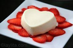 Panna cotta for Valentine's day