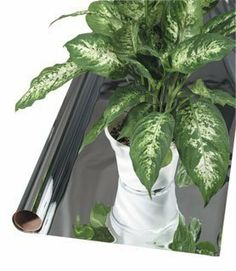 Reflective Metalized Film, 25'x4 1/2', 2 mil by Hydrofarm. $29.93. Makes the most efficient use of your lighting by reflecting light onto your plants Reflective metallized film is the best reflective material made - mirror-like efficiency!