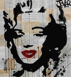 "Saatchi Art Artist Loui Jover; Drawing, ""marylin"" #art"