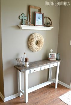 DIY Entry Table Under $30 - Building my own table may be the solution to my problem of finding the perfect table.