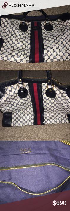 Gucci bag Vintage 1970 Gucci women's travel hand bag Gucci Bags Travel Bags