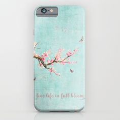 Live life in full bloom iPhone & iPod Case