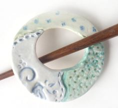 Hey, I found this really awesome Etsy listing at https://www.etsy.com/listing/207748392/porcelain-ceramic-shawl-pin-faux-fabric