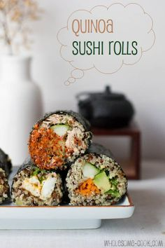 Quinoa Sushi Rolls with 3 filling options
