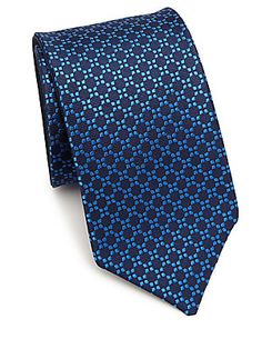 Saks Fifth Avenue Collection Double Face Geometric Silk Tie Tie A Necktie, Fifth Avenue Collection, Stylish Man, Tie Pattern, Designer Ties, Tie Styles, Neckties, Suit And Tie, Business Outfits