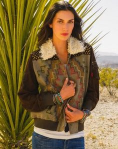 """Double D Ranch Fall 2014 """"Mountain Crow Bomber"""" 2 Colors!! http://www.cowgirlkim.com/double-d-ranch-fall-2014-mountain-crow-bomber.html"""