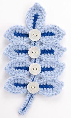 Crocheted Leaves & Berries pattern.