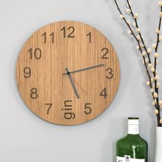 A perfect clock for all those gin lovers out there who often count down the minutes to their perfect time of day.If you don't usually wait until 6pm [or want him or her to wait a little longer!] then this clock can be personalised and the 'gin' moved you any position on the clock face [replacing a number] please select before ordering - otherwise you will get gin at 6 'clock. We can also personalise your favourite drink - please get in touch via the 'ask seller a question' and we can…