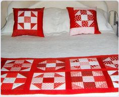 Arte Patchworks y Quilts, cubrecamas, pieseras, cojines, individuales y otros. Bed Runner, Quilt Bedding, Quilt Top, Bed Sheets, Quilt Patterns, Applique, Projects To Try, Quilts, Blanket