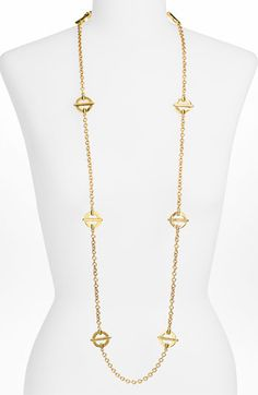 Tory Burch Long Station Chain Necklace available at #Nordstrom