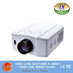 179.00$  Watch now - http://ali85q.worldwells.pw/go.php?t=32618553576 - Hot Sale 3D LCD TV Projector Home Theater Support 1080P Build-in stereo Speaker Proyector Led Video Low Noise Beamer DH-TL86