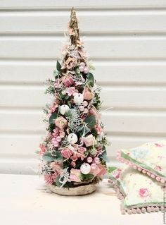 Купить Елочка Розовая - бледно-розовый, елка, елочка, настольная елка, подарок, Новый Год