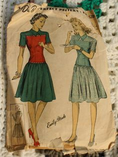 DuBarry 5289 dress Vintage 1940s Sewing by EleanorMeriwether, $12.00