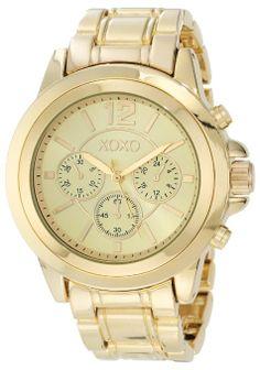 XOXO Women's XO5589 Gold-Tone Bracelet Watch: Watches: Amazon.com