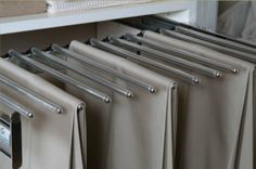 Rack for hanging pants by The Closet Builder.