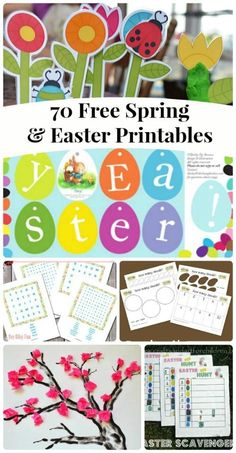 TONS of free printable crafts & activities for Spring --  Easter ideas, Spring games,  nature activities & fun ways to learn!